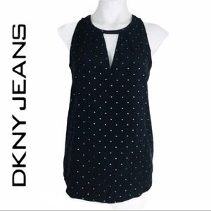 DKNY Jeans Halter Top with Pattern Studs
